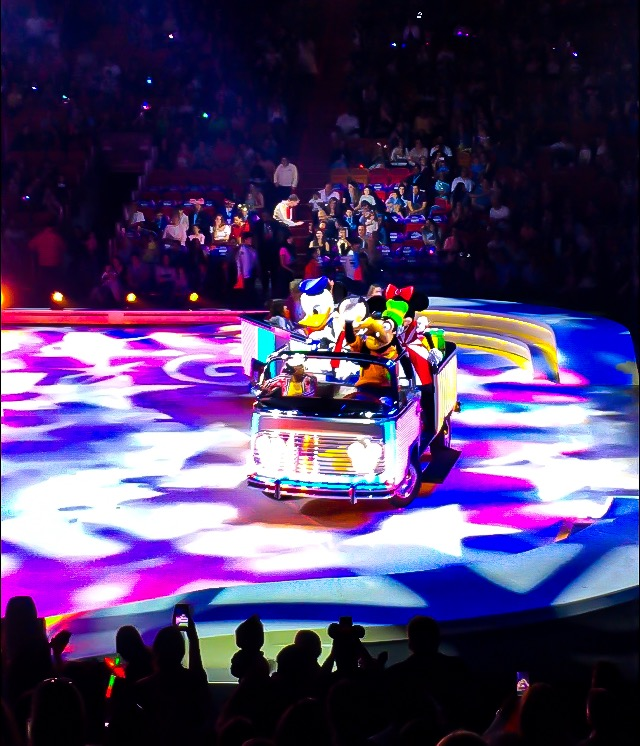 Mickey Mouse, Minnie Mouse, Donald Duck, and Goofy at Disney On Ice presents Road Trip Adventures