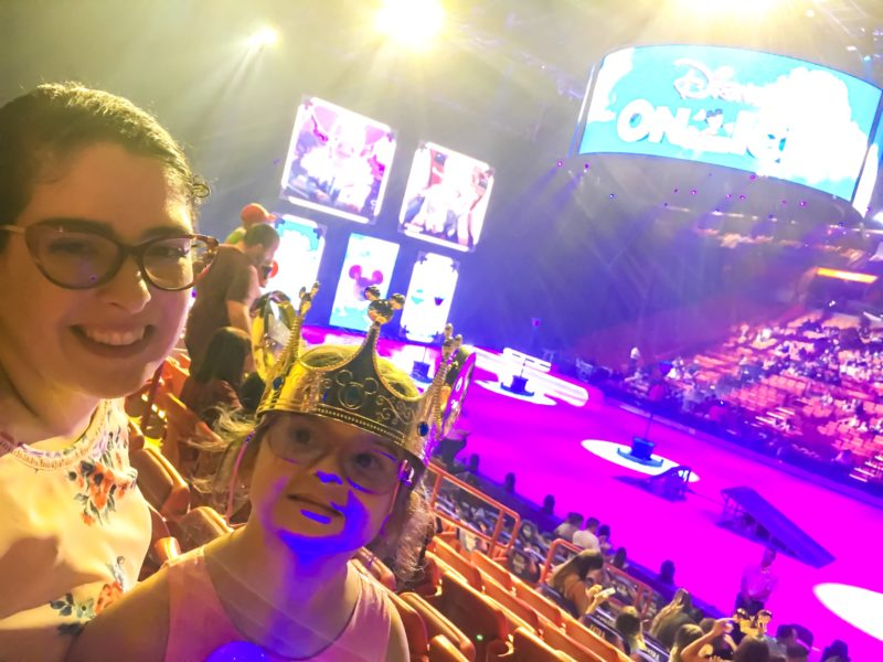 E. L. Lane and Leia at Disney On Ice presents Road Trip Adventures