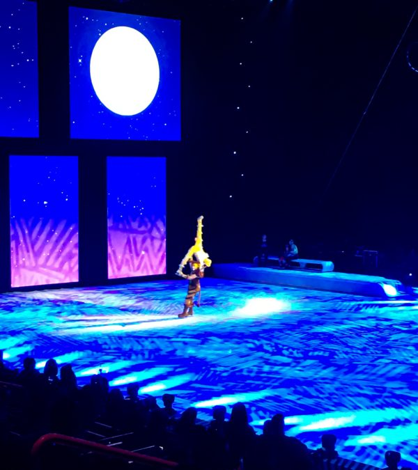 Simba holds Nala in the air at Disney On Ice presents Road Trip Adventures
