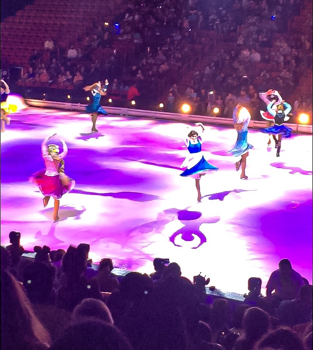Girl power with all of the Disney princesses dancing on ice at Disney On Ice presents Road Trip Adventures